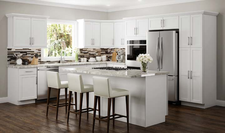 Amesbury White Cabinets at 10% OFF