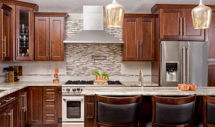 Fusion Chestnut Cabinets at 15% Off