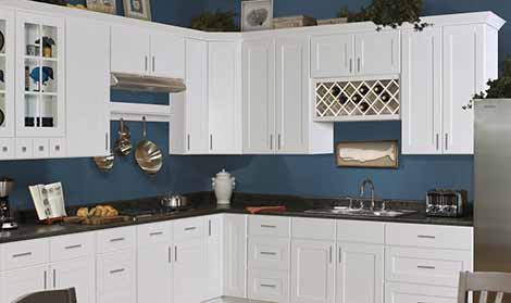 Shaker Hill White Series Cabinets at 25% OFF