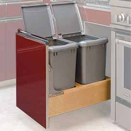 Double 35 Qt Rev-A-Motion Waste Pullout