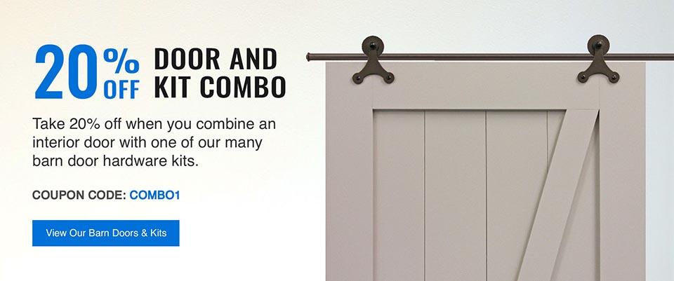 Save 20% on Barn Door & Kit Combo